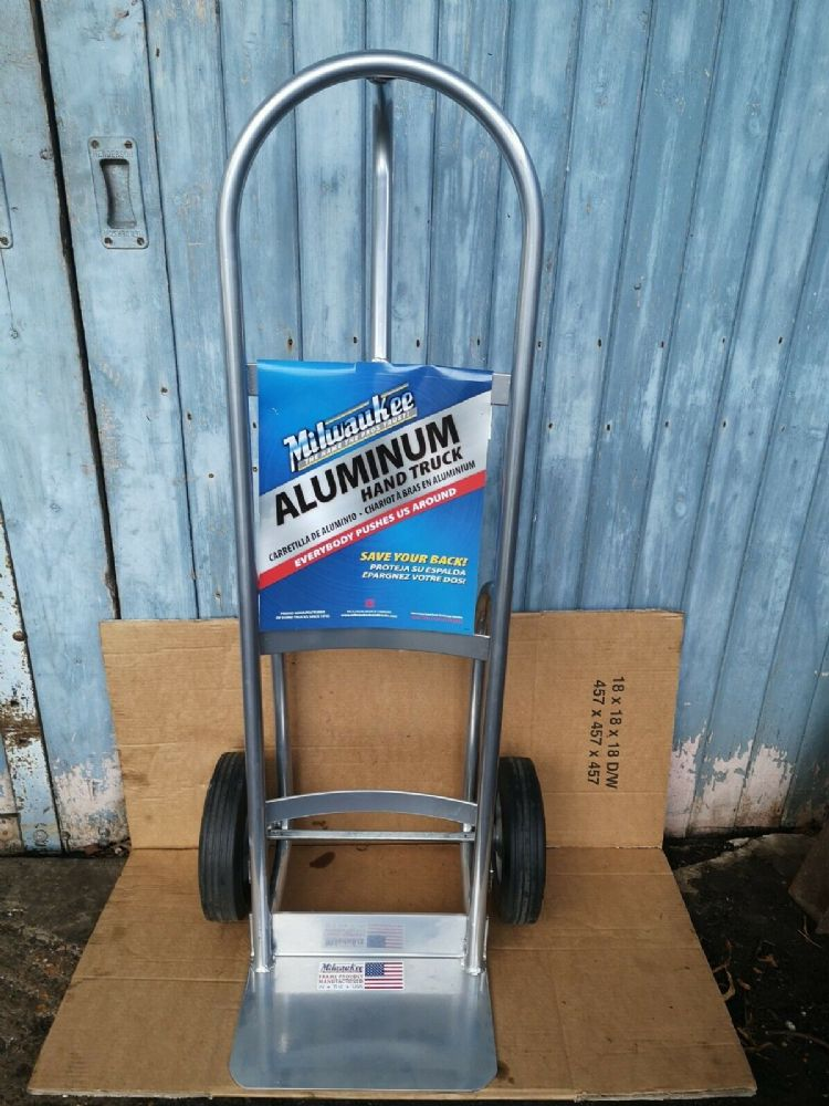 Milwaukee Aluminium Hand Sack Truck 250KG capacity Punture proof wheels